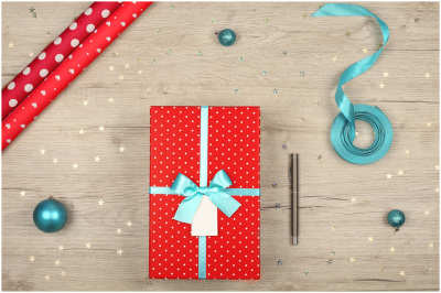 FREE Christmas Flat Lay Stock Photos