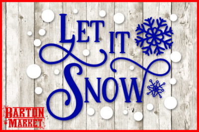 FREE SVG Cut File: Let is Snow