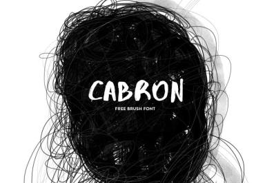 Free Font: Cabron Typeface