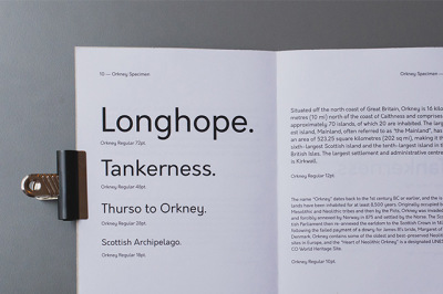 FREE Orkney Typeface