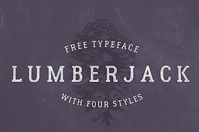 FREE Lumberjack Font
