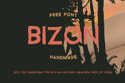 Free Font: Bizon Typeface