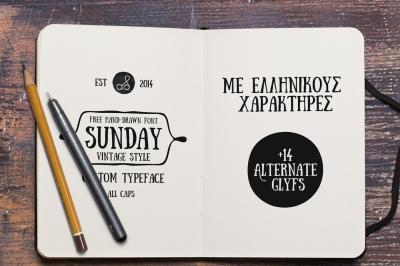 Free Font: Sunday Typeface