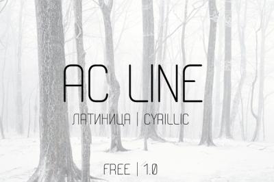 FREE AC line font