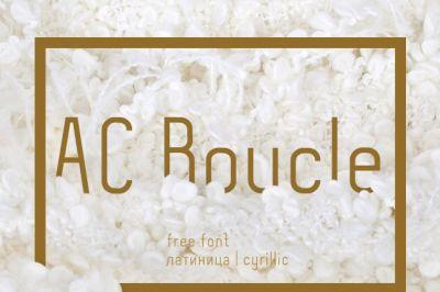 FREE AC Boucle font