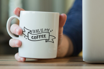 Free SVG Cut File: This is My Coffee