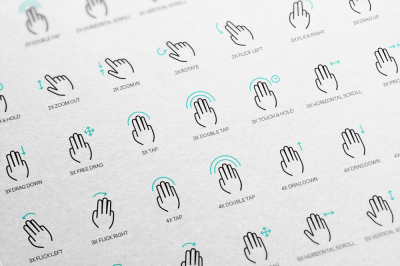 50 free gesture icons