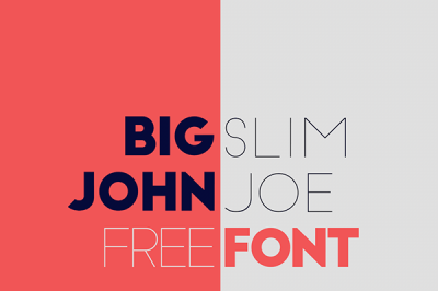 Free Font: Big John vs Slim Jim