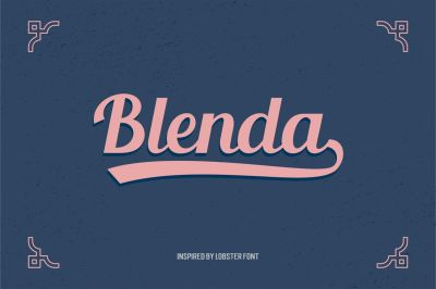Free Font: Blenda