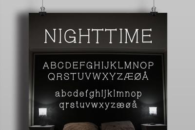 FREE Nighttime font