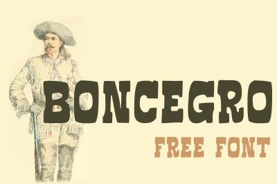 FREE Boncegro Font