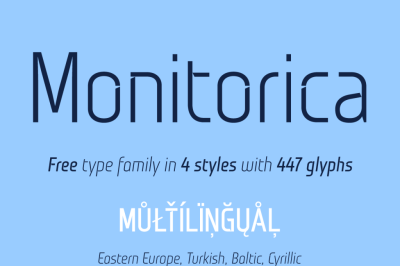FREE Monitorica font