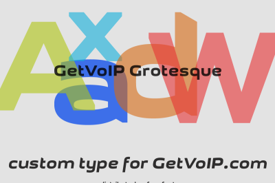 FREE GetVOIP Grotesque font