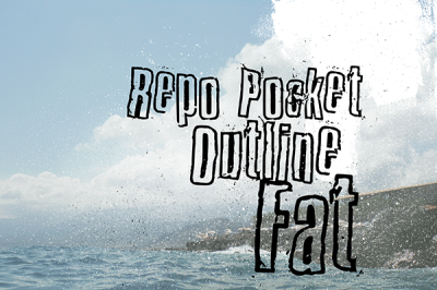 FREE Repo Pocket Outline Fat Font