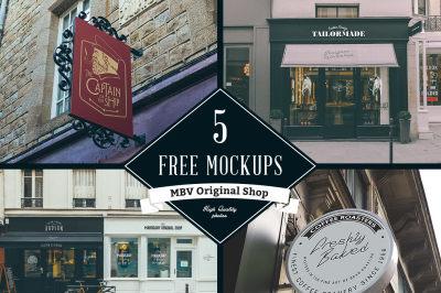 5 Free Sign Mock Ups