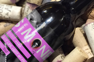 FREE Beer on wine corks mockup