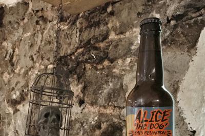 FREE Beer Skull in Birdcage Mockup