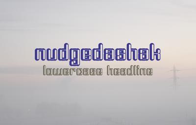 FREE Nudgedashak Font