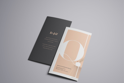 FREE A4 Trifold Brochure Mockup
