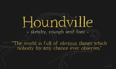 FREE Houndville font