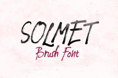 Solmet Brush Font