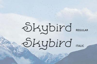 FREE Skybird font