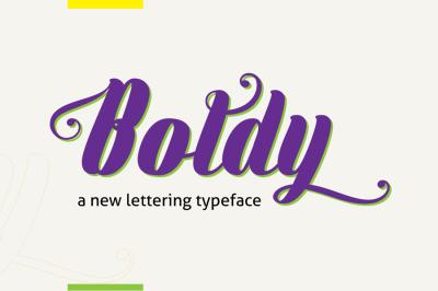 Boldly Typeface