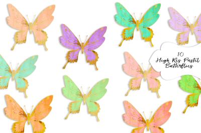FREE Pastel Butterflies