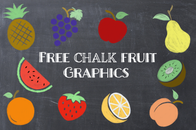 FREE Chalk Fruit Graphics
