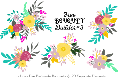 FREE Bouquet Builder #3