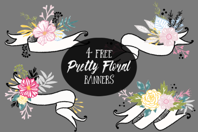 FREE Pretty Floral Banner