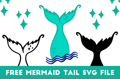 FREE SVG Mermaid Tail Waves