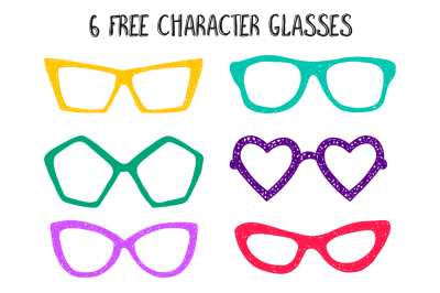 FREE 6 Character Glasses