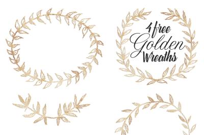 FREE Golden Wreaths