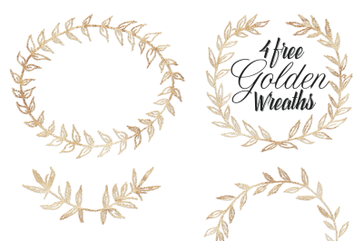 FREE Golden Wreaths