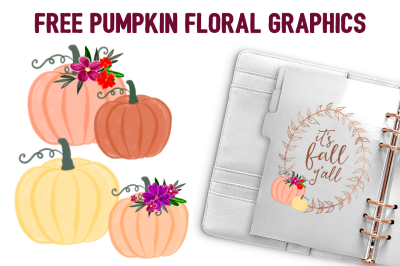 FREE Pumpkin Floral Graphics