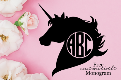 FREE Unicorn Circle Monogram