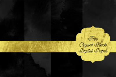 FREE Elegant Black Digital Paper