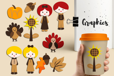 FREE Cute Thanksgiving Graphics