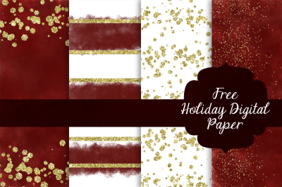 FREE Holiday Digital Scrapbook Paper