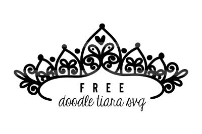 FREE SVG: Tiara Crown