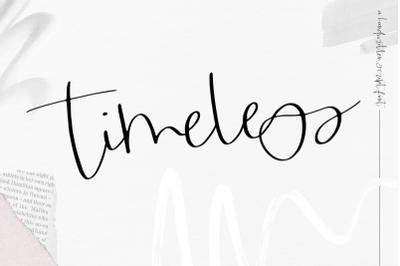 FREE Timeless- Handwritten Script Font