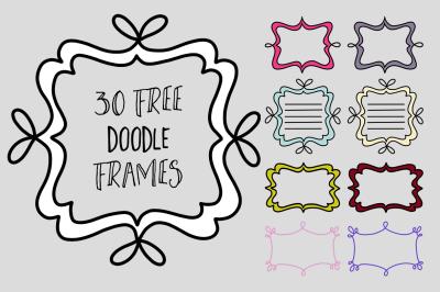 FREE 30 Doodle Frames