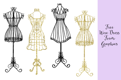 FREE Wire Dress Forms Graphics