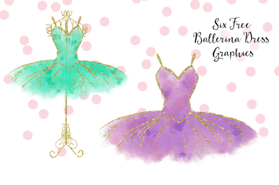 FREE Ballerina Dress Graphics