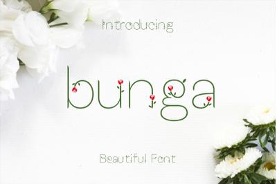 FREE Bunga Font