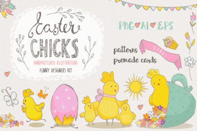 Free Clipart Pack: Easter Chicks PNG Pack