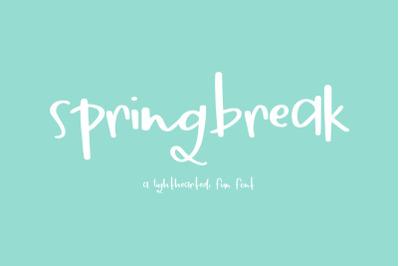 FREE Springbreak Font