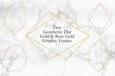 FREE Geometric Dot, Gold&Rose Gold, Graphic Frames