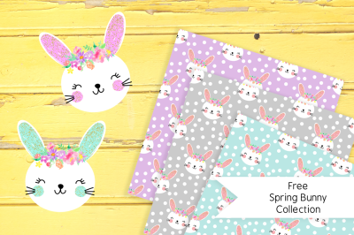 FREE Spring Bunny Collection